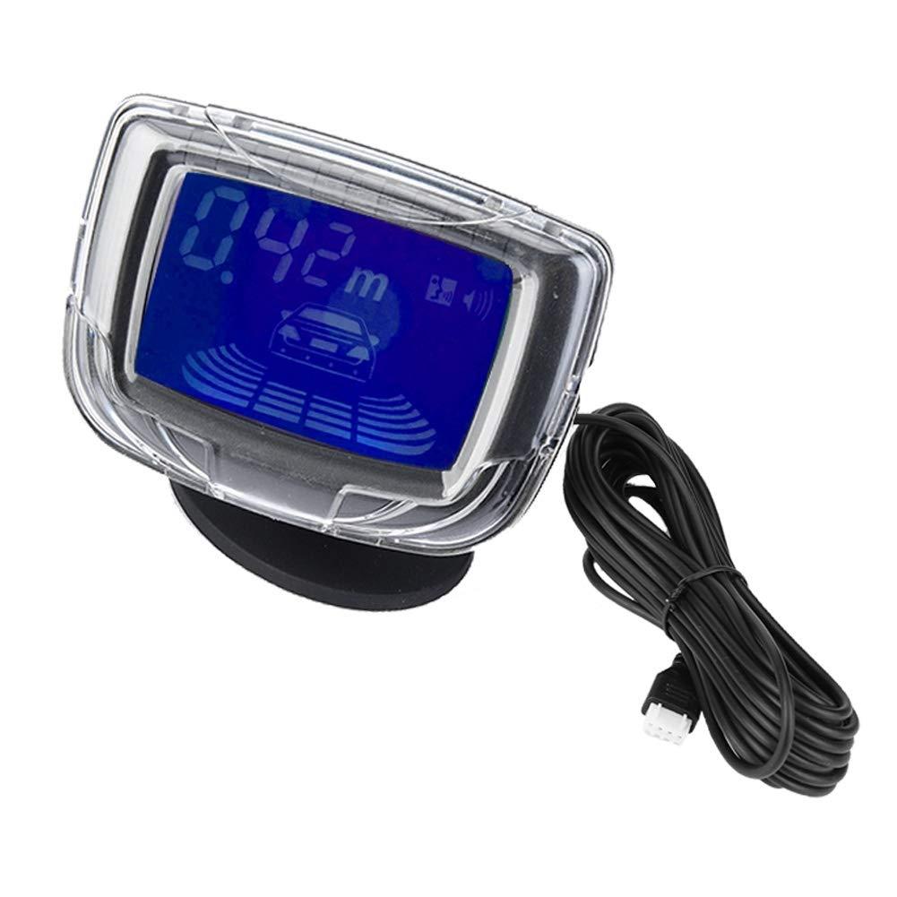 EBTOOLS Sistema de Detecci/ón de Reserva del Zumbador de la Ayuda del Aparcamiento con 4 Sensores de Radar Pantalla LCD de 2 Pulgadas azul