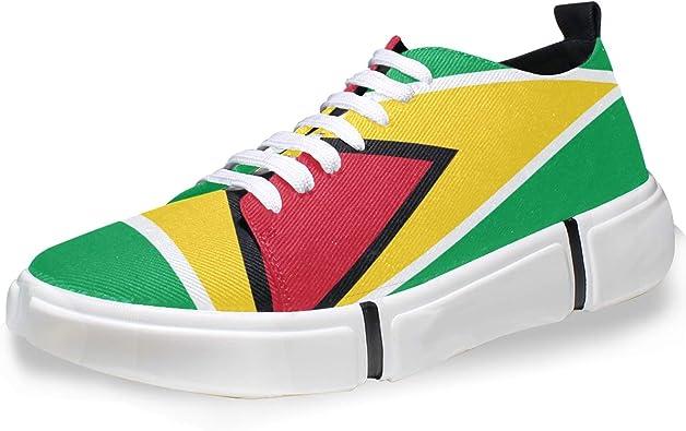 Super3Dprinted - Zapatillas Informales para Hombre, diseño de la Bandera de Guyana, Multi, 41 EU: Amazon.es: Zapatos y complementos