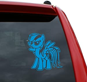 """Black Heart Decals & More My Little Pony/Rainbow Dash Vinyl Decal Sticker 