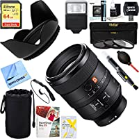 Sony FE 100mm F2.8 STF GM OSS Lens for Full-Frame E-mount Cameras (SEL100F28GM) + 64GB Ultimate Filter & Flash Photography Bundle