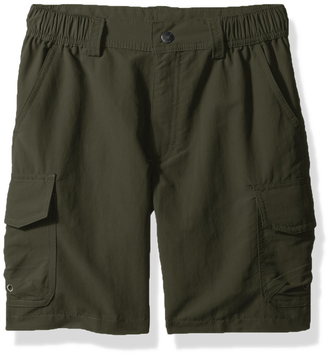 White Sierra Boy's Rocky Ridge Shorts, Dark Olive, Small by White Sierra