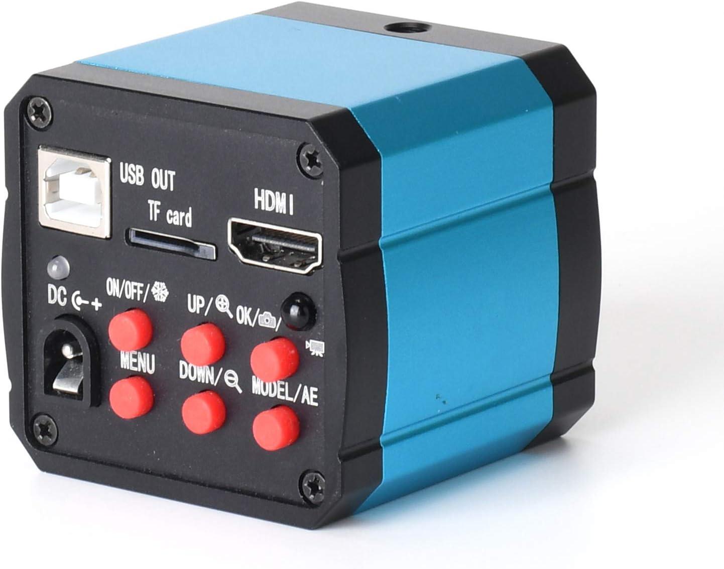 BOQUIRTE Microscope HDMI EU Plug C-MountCamera 100-240V haute d/éfinition 16MP USB 1080P 60FPS 2K pour les domaines de lagriculture et de la biologie de lindustrie