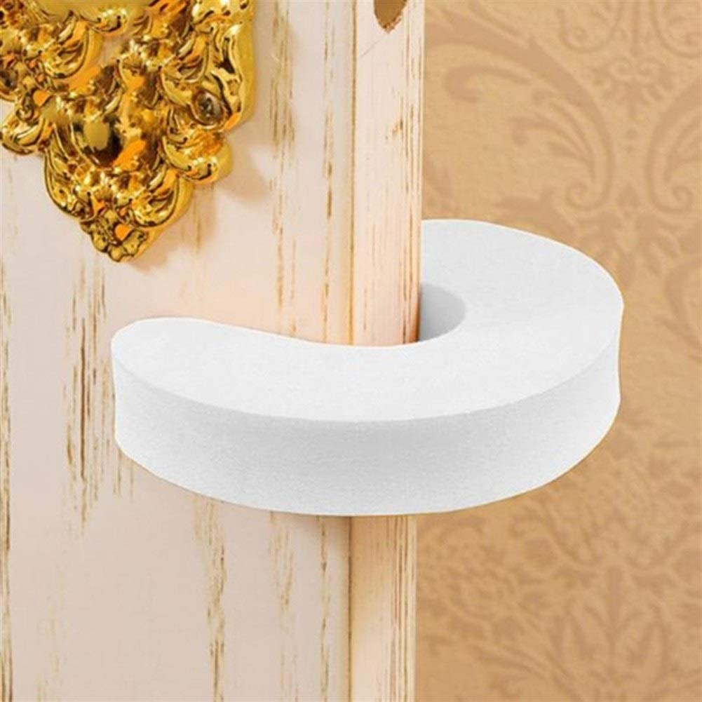 Anyzhantrade 6PCS Door Stop Baby Safety Locks Children Protection EVA C Shape Security Door Stopper Color : A