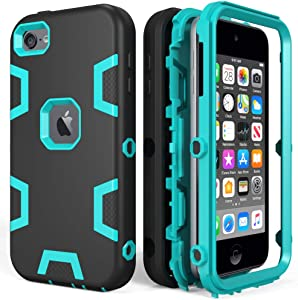 iPod Touch Case , iPod Touch 6th Gen Case , Anti-Scratch Anti-Fingerprint Heavy Duty Protection Shockproof Rugged Cover Apple iPod Touch 2019,Blue