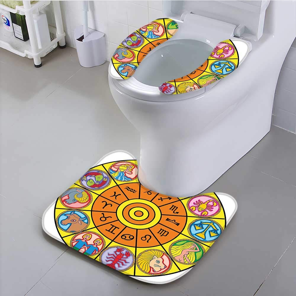 aolankaili The Toilet Condom Astrological Disk with Twelve Houses Interaction of Elements Energy World Decor Multi in Bathroom Accessories