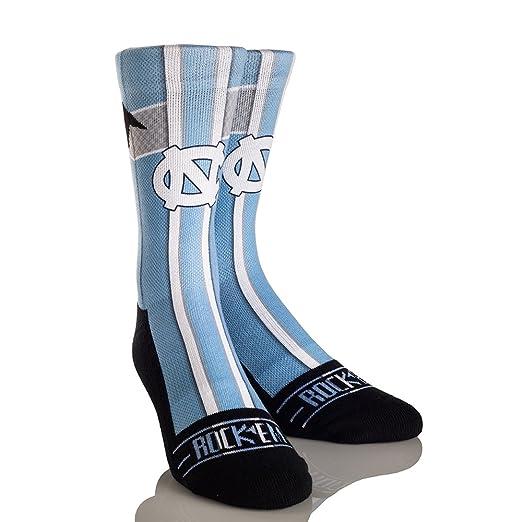 45068f4ed37cf Rock'em Apparel University of North Carolina Tar Heels Custom Athletic Crew  Socks