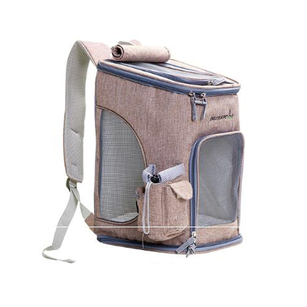 QIQI Breathable Dog Backpack Portable Pet Travel Bag For Outdoor Hiking Walking Camping Pet Carrier 28  28  43CM