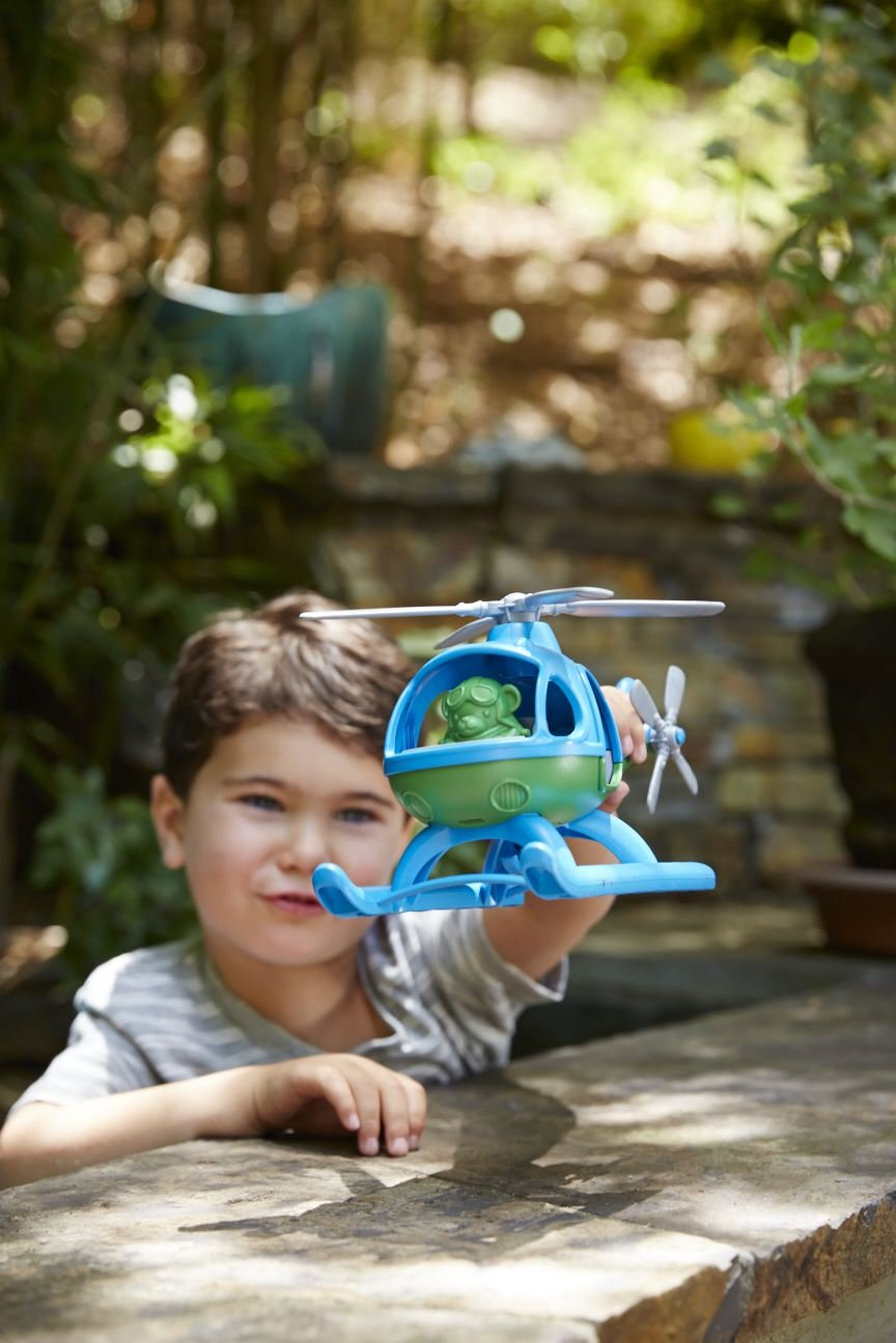Blue//Green Green Toys HELB-1060 Helicopter