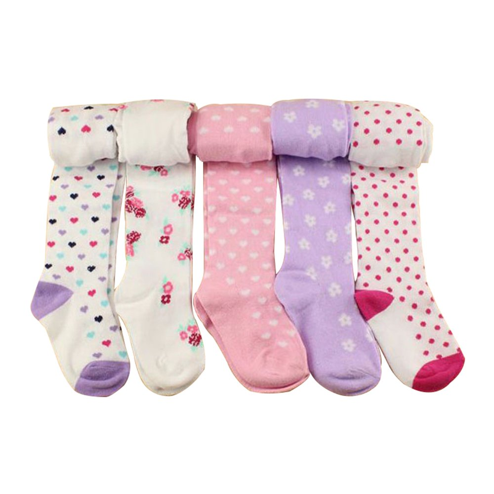 Tianou 5pc/lot calzamaglia dei calzamaglia dei capretti dei calzamaglia 80% del cotone delle ragazze delle neonate