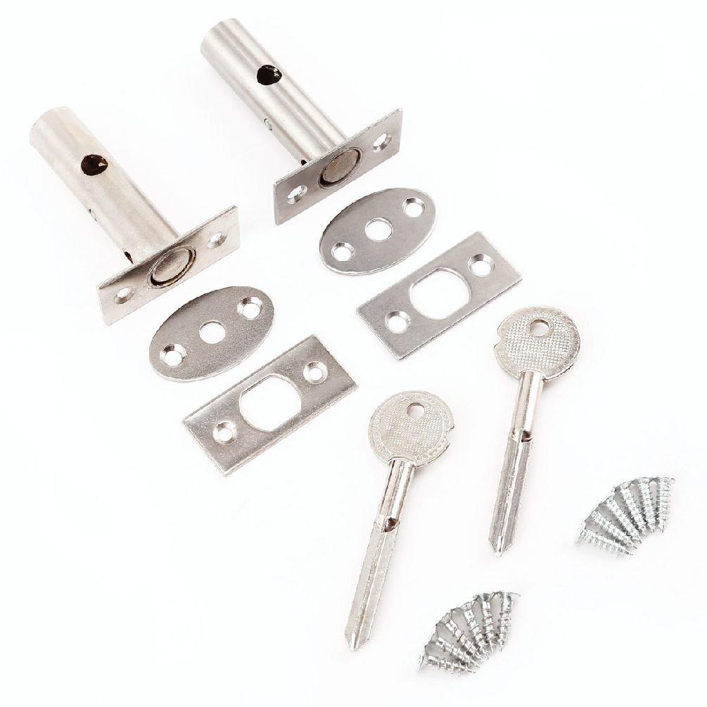 2 x Sicherheit Tür Bolzen mit Beschlägen & Star Schlüssel Rahmen ...