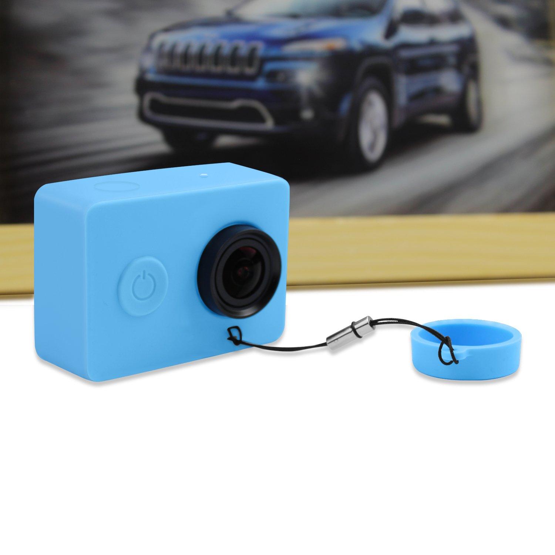 iMusk Funda de Silicona Suave Bolso Protector de la Cubierta para Xiaomi YI 2K Deportes y Acci/ón C/ámara Digital Bolsos Accesorios de la Caja Azul
