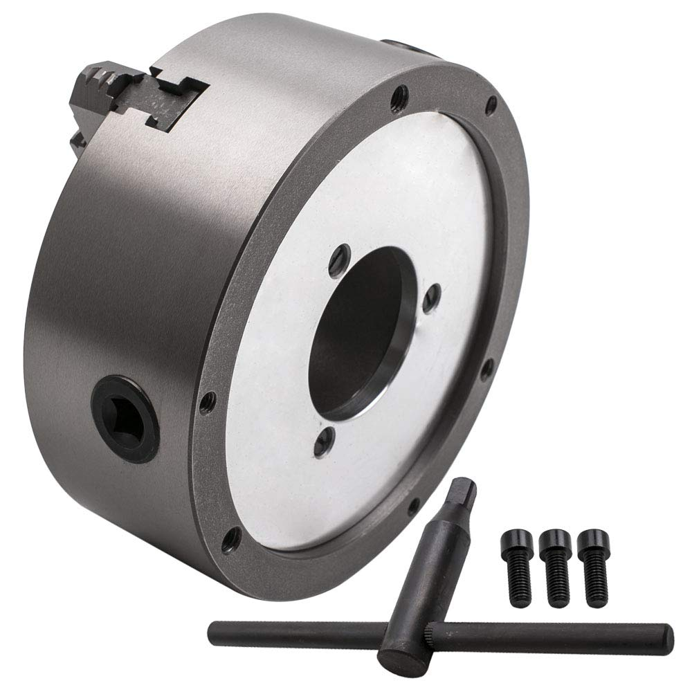Tuningsworld Jaw Self-Centering Lathe Chuck 8 Inch for Milling Hardened Steel K11-200A 200mm