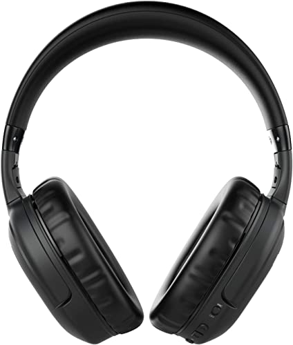 Active Noise Cancelling Headphones, Bluetooth Headphones Over Ear with Mic Deep Bass Hi-Fi Sound, 30Hrs Playtime ANC Wireless Headphones Comfortable Protein Earpads, for Traveling Cellphone PC TV