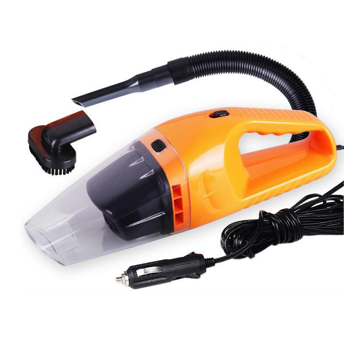 Amazon com grikey high power 100w wet dry car use vacuum cleaner portable dust hand vacuum cleaner 12 volt orange automotive