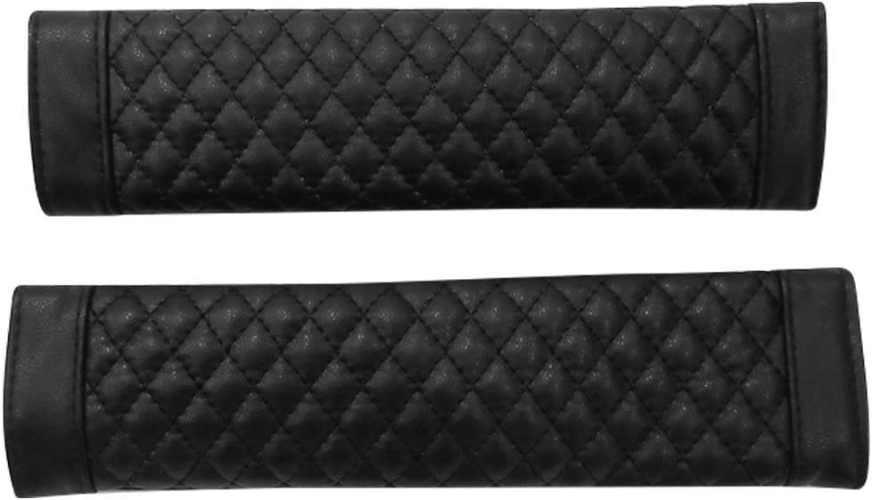 IMABAO Copertura per cintura di sicurezza in pelle di pecora morbida cinghia di sicurezza cinghie di protezione protezione del collo e della spalla dalla cintura di sicurezza 2 pezzi nero