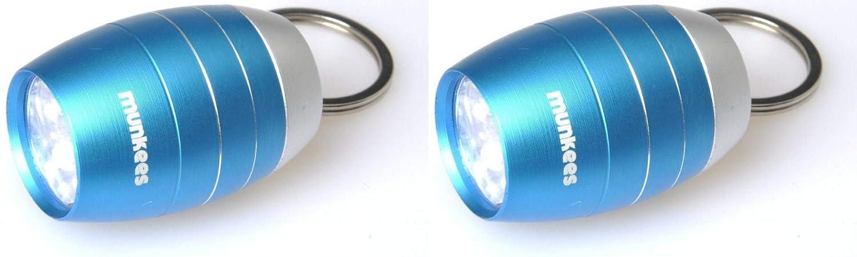 Munkees 6/LED Porte-cl/és Lampe de Poche Mini Tonne Forme