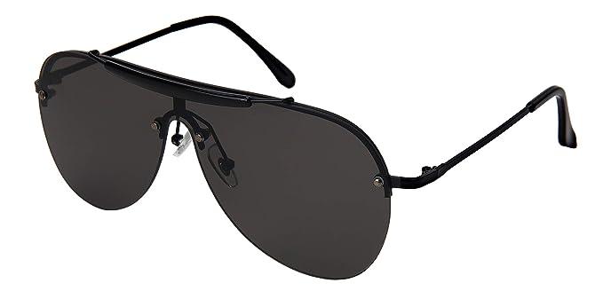 7e5b5104939 Edge I-Wear Sweat Bar Flat Top Aviator Sunglasses Men Women Mono Lens 55704-