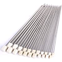 SYGA Set of 11 Pairs Single Pointed Sewing Knitting Needles Tool 2mm - 8mm with Case