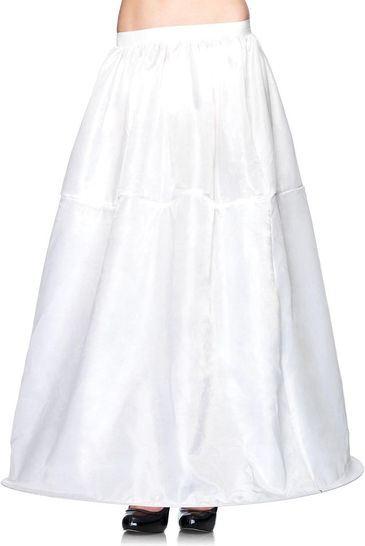 Leg Avenue Women's Long Hoop Skirt, White, One Size: Leg Avenue: Clothing