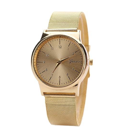 JiaMeng Reloj Analógico Automático de Acero Inoxidable de Cuarzo de Oro clásico de Moda con Correa