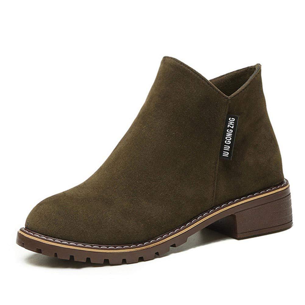 Frauen Reißverschluss Stiefeletten Weiblichen Weiblichen Weiblichen Platz Low Heels Plattform Mode Schuhe Herbst Winter Damen Freizeitschuhe 885772