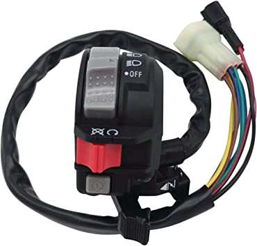 4KB-83973-21-00 Warrior YFM350 Left Handlebar Control Switch Fit for Yamaha Bear Tracker YFM250 Grizzly YFM125 2002-2013 Engine Control Headlight ON Off Start Light Switch 4KB839730000 Wolverine