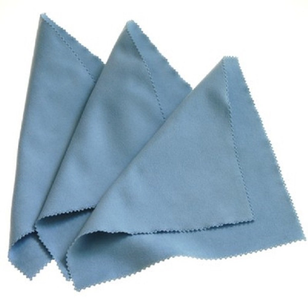 Horosafe Buffing Cleaning Cloth for Watches - Blue (7x6) - 3 pack