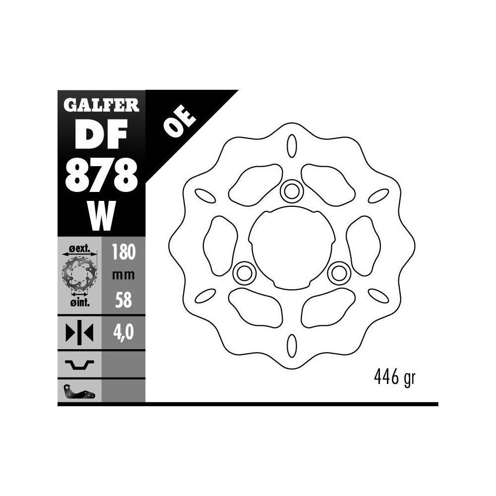 Galfer Wave Brake Disc Fixed DF878/W