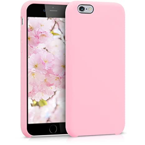 kwmobile Funda compatible con Apple iPhone 6 / 6S - Carcasa de TPU para móvil - Cover trasero en rosa chicle