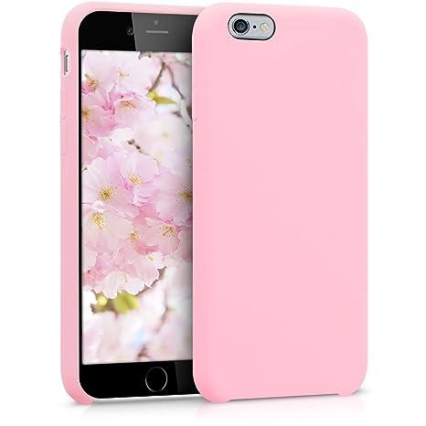 kwmobile Funda compatible con Apple iPhone 6 / 6S - Carcasa de TPU para móvil - Cover trasero en rosa chicle