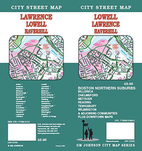Lowell / Lawrence / Haverhill, MA Street Map