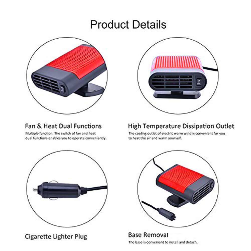 12/V 200/W Power 2/en 1/Auto Calefacci/ón sin ruido purificador de aire deshielo Auto Calefacci/ón para descongelaci/ón Auto de calefacci/ón