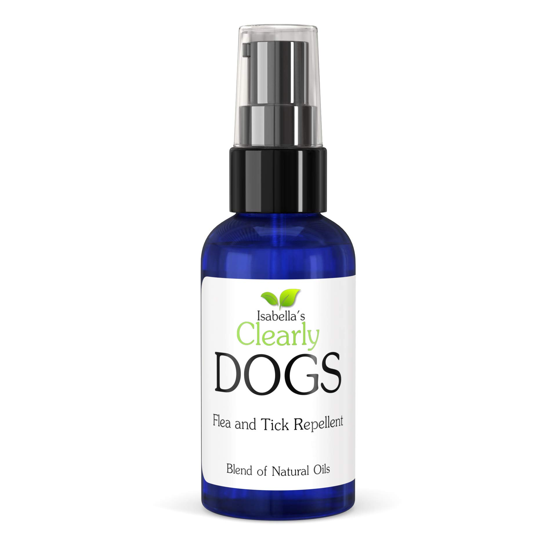 Clearly Dogs, Natural and Safe Tick and Flea Repellent, Non Toxic Highly Effective Proven Formula of Topical Oils Including Lavender, Lemongrass and Cedarwood. Made in USA (2 Oz) by Isabella's Clearly