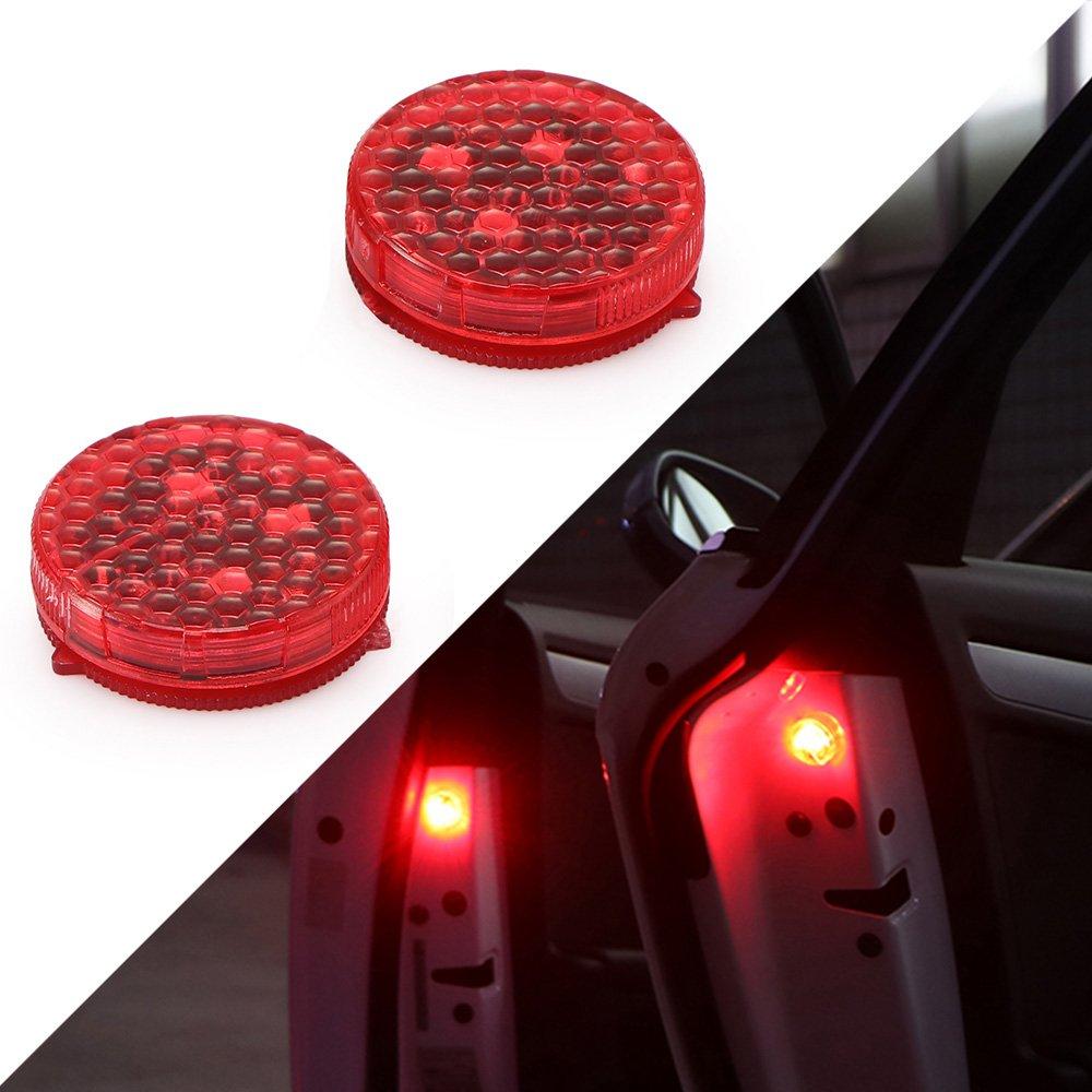 parpadeo rojo inal/ámbrico universal Sunsbell Luces de advertencia de 2 puertas