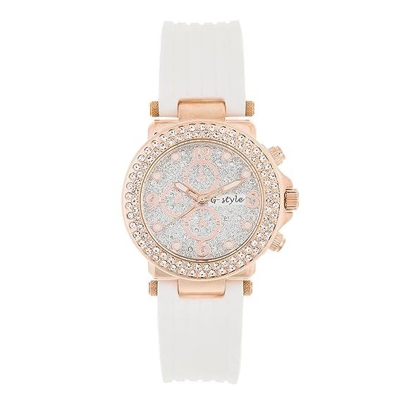 New Reloj de Mujer de Moda Elegante G-Style Correa de Goma Relojes Pulsera Regalo Perfecto (GSB06): Amazon.es: Relojes