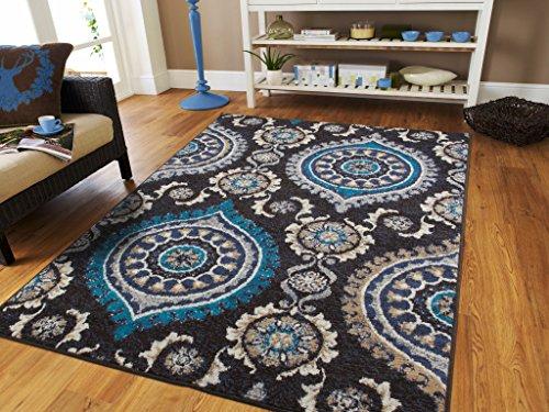 Amazon.com: Modern Black Rug For Living Room 2x3 Small