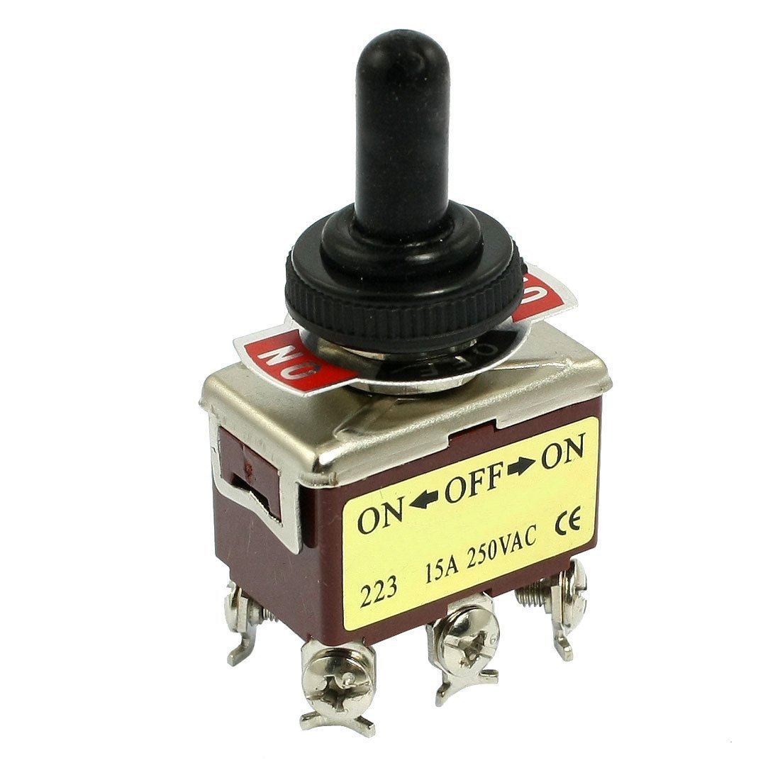 sourcingmap® AC 250V 15A 6 Pin DPDT On/Off: Amazon.co.uk: Electronics