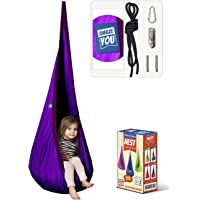 AMAZEYOU Kids Swing Hammock Pod Chair - Child's Rope Hanging Sensory Seat Nest for Indoor and Outdoor Use - Great for…