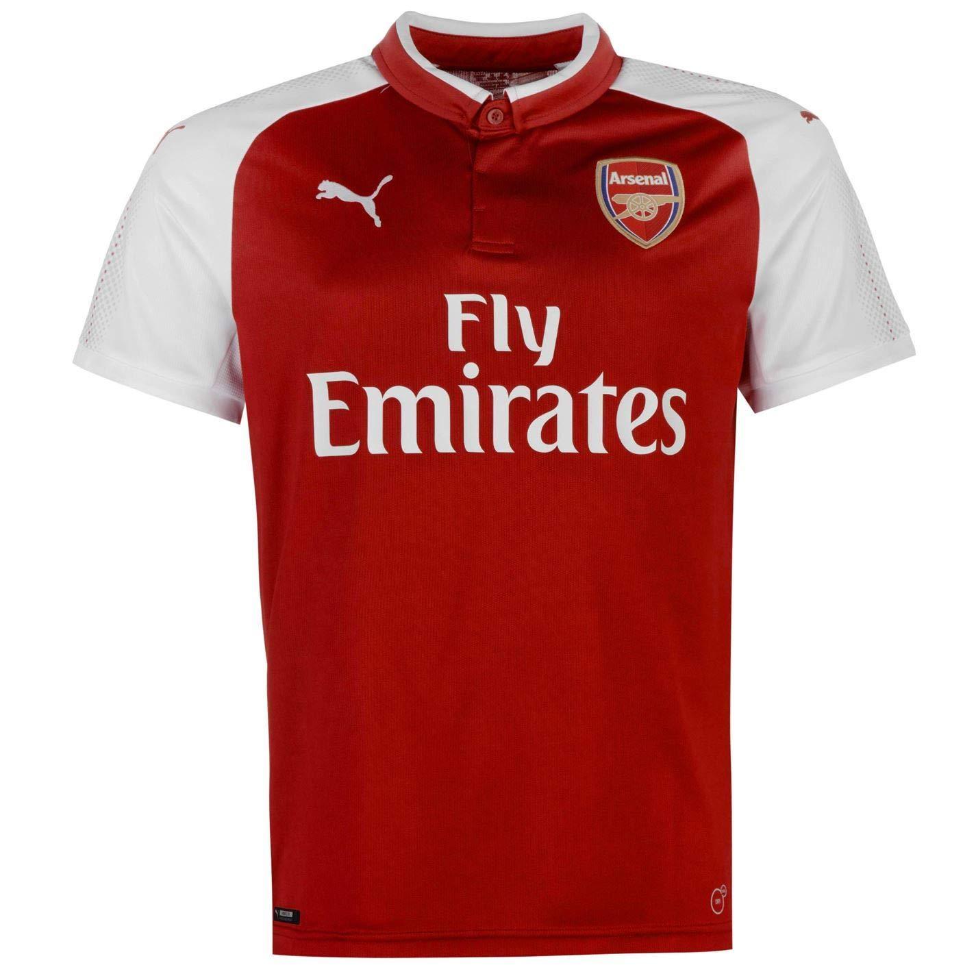 Offizielles Puma Arsenal Home Trikot 2017 2018 Herren Rot Weiß Fußball-Fan Shirt Top