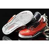 af1f2964cf605d Air jordan III 3 Retro Red DB Doernbecher Cement OG Sneakers Shoes 3D  Keychain Figure 1