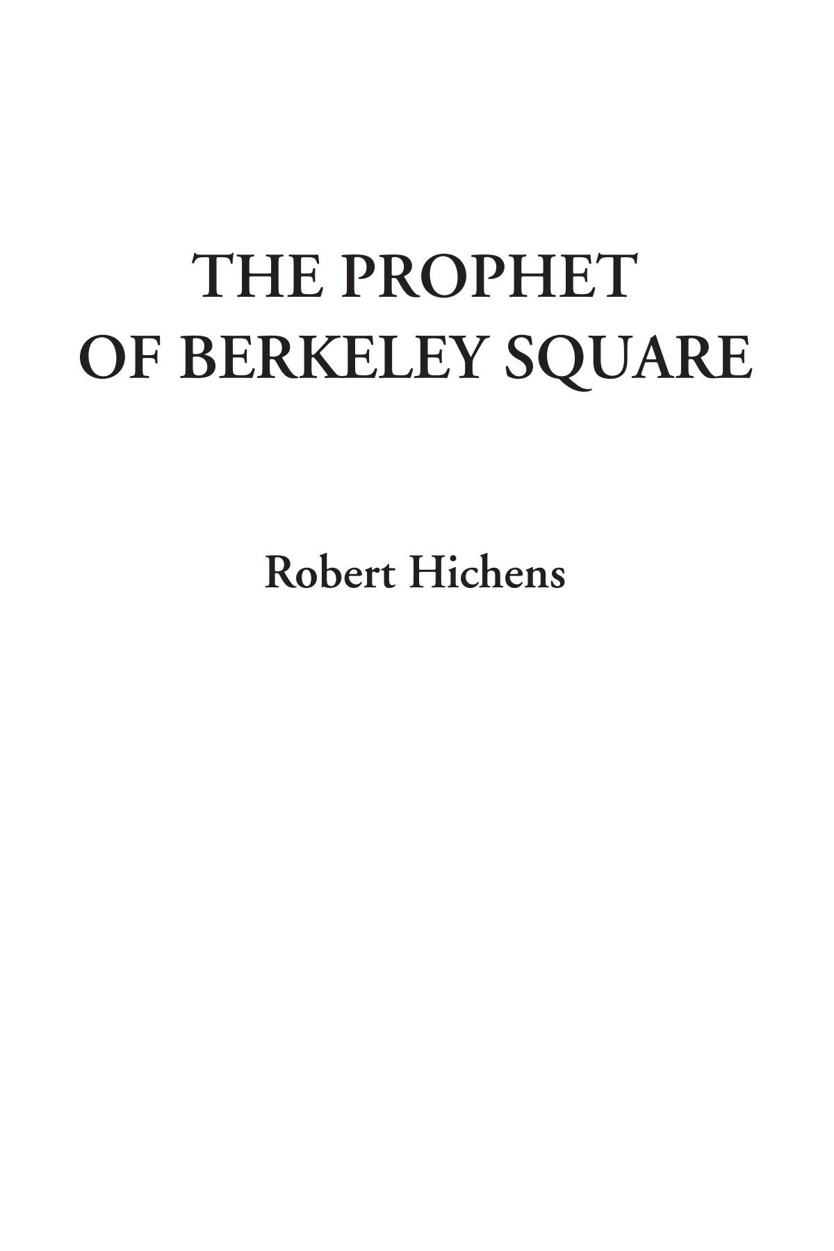The Prophet of Berkeley Square ebook