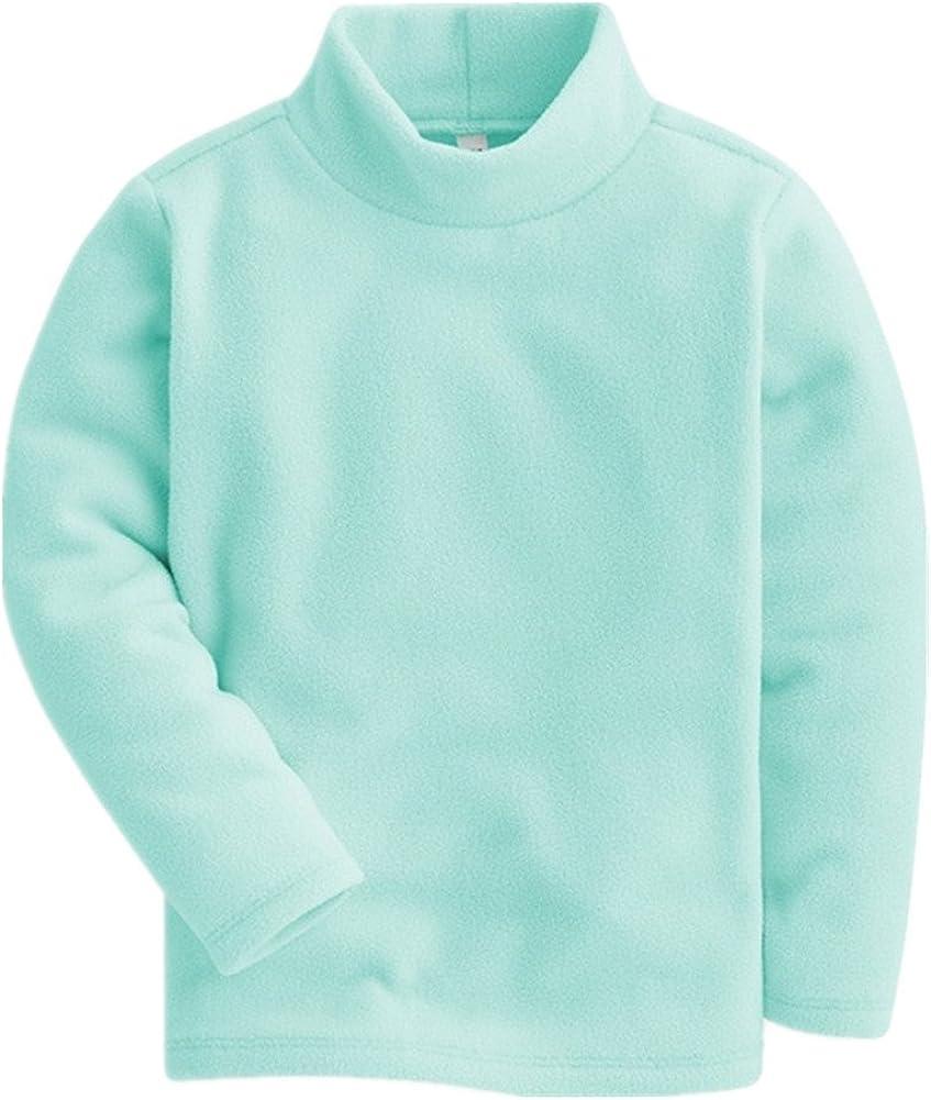 2-8 Years LittleSpring Unisex Kids Shirt High Neck Polar Fleece Base Top