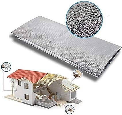Dripex Isolant Thermique en Aluminium a Bulles Double Face Isolation 3-4mm pour radiateur sol toit mur reflecteurs de chaleur isolant thermor/éfl/échissant-1.0x15M