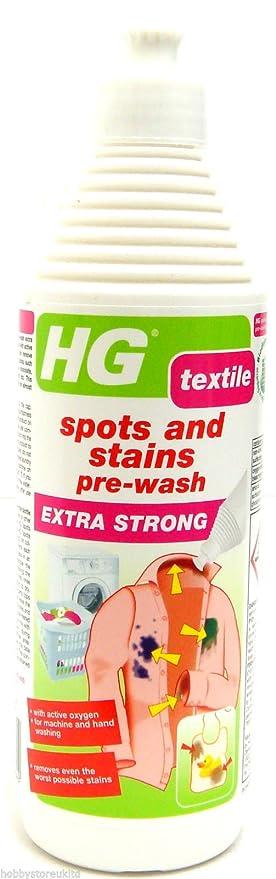Quitamanchas para prelavado HG, extra fuerte, para telas, 500 ml: Amazon.es: Hogar