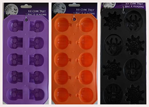 Halloween Party Jello Shot Chocolate Ice cube Tray Mold Silicone ~ Black Spider