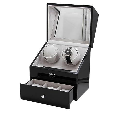 jianbo AutomáTico Caja Para Expositor Rotador 2+3 Relojes Watch Winder De Pulsera Vitrina Movimiento
