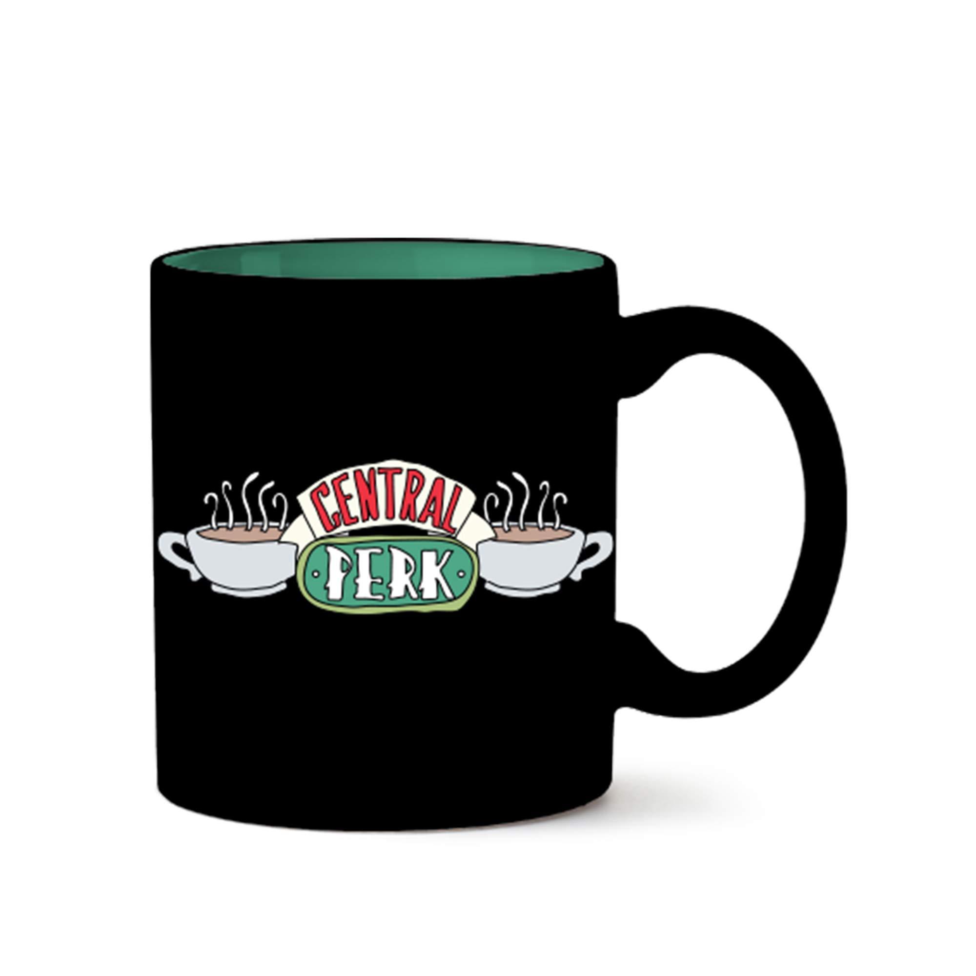 ویکالا · خرید  اصل اورجینال · خرید از آمازون · Silver Buffalo FRD31032 Friends Central Perk Doodle Logo Ceramic Mug, 14-Ounce, Black wekala · ویکالا