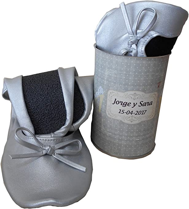 Bailarinas para boda color plata enlatada - Pack de 12 unidades: Amazon.es: Hogar