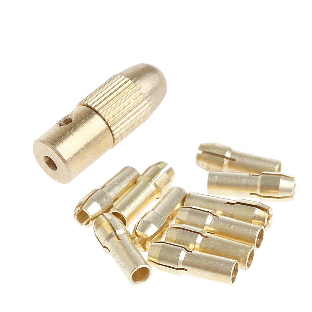 /3.2/mm Kit de broca de mano de torsi/ón miniatura mandril portabrocas de broca el/éctrica 10pc 0.5/ longsw 3.17/mm