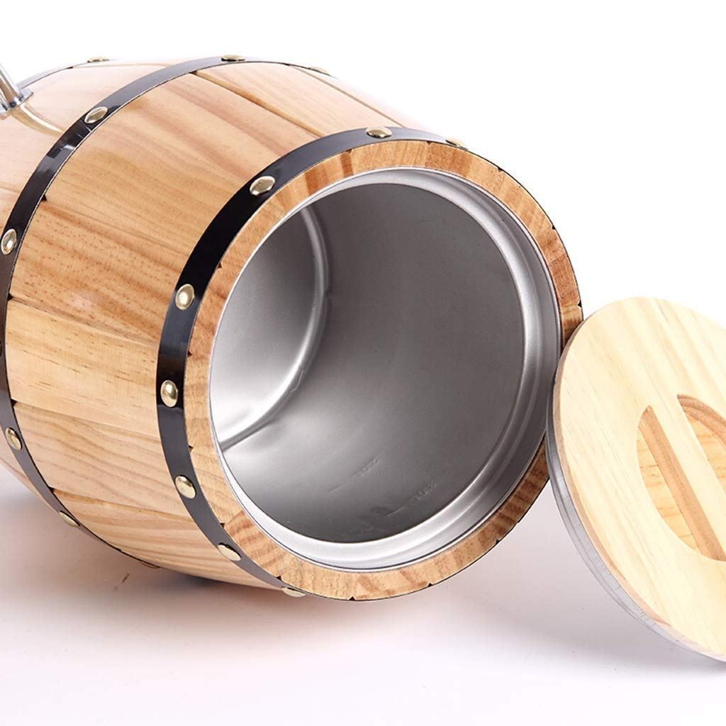 Cubas Dom/ésticas Oak Barrel Barriles Verticales De Roble Cerveza Y Whisky Wine Beer Whiskey Barriles De Vino Cider Cubos Decorativos Barriles De Acero Inoxidable Dispensadores De Agua